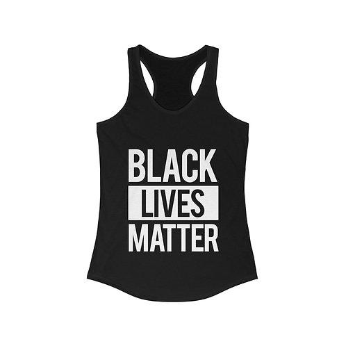 Black Lives Matter Womens Racer Back Tank