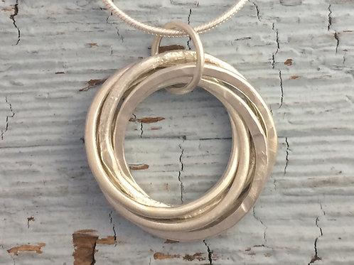 5 Interlinked Rings Pendant