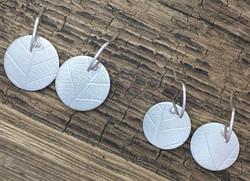 Leaf Textured Drop Earrings