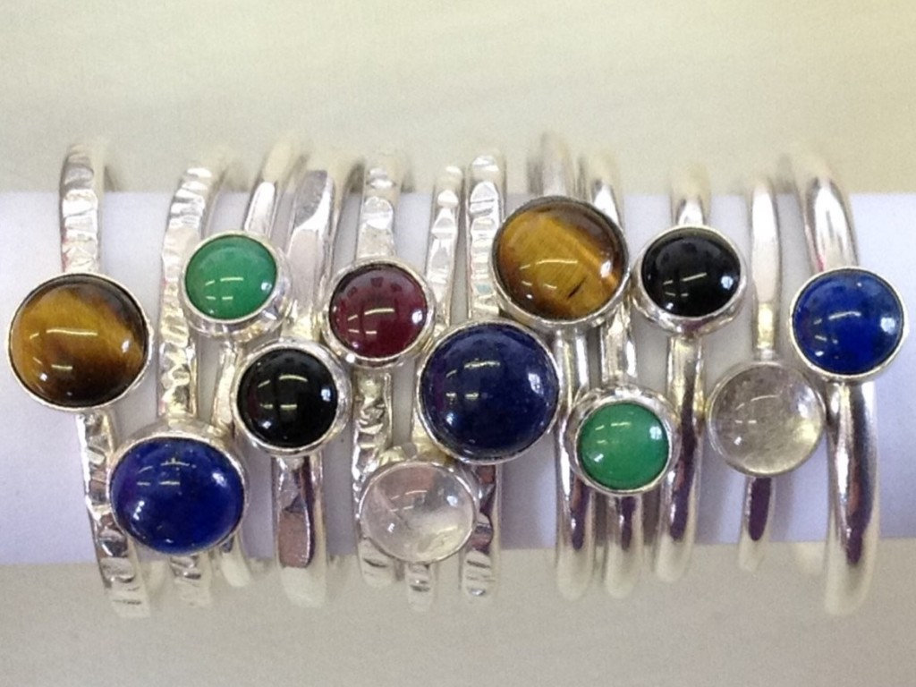 Stacking Rings with Stones 09/10/2021