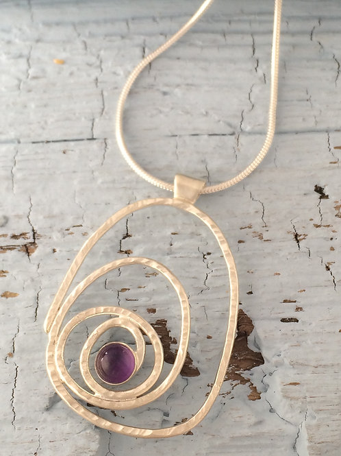 Spiral Pendant With Stone