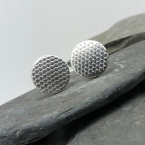 Lace Design Stud Earrings