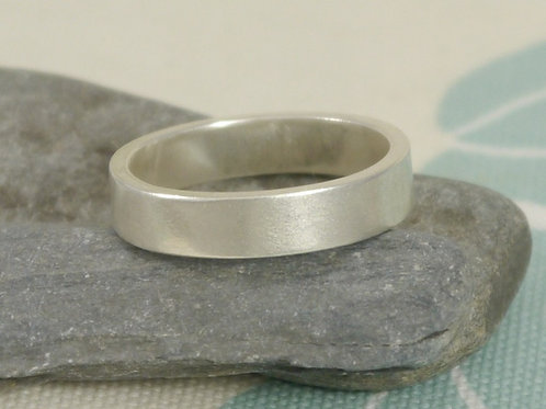 Men's Frosted Finish Ring
