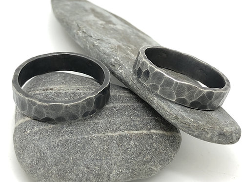 Men's Oxidised and Textured Ring