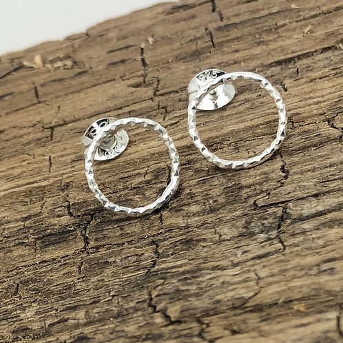 Dainty Circle Stud Earrings