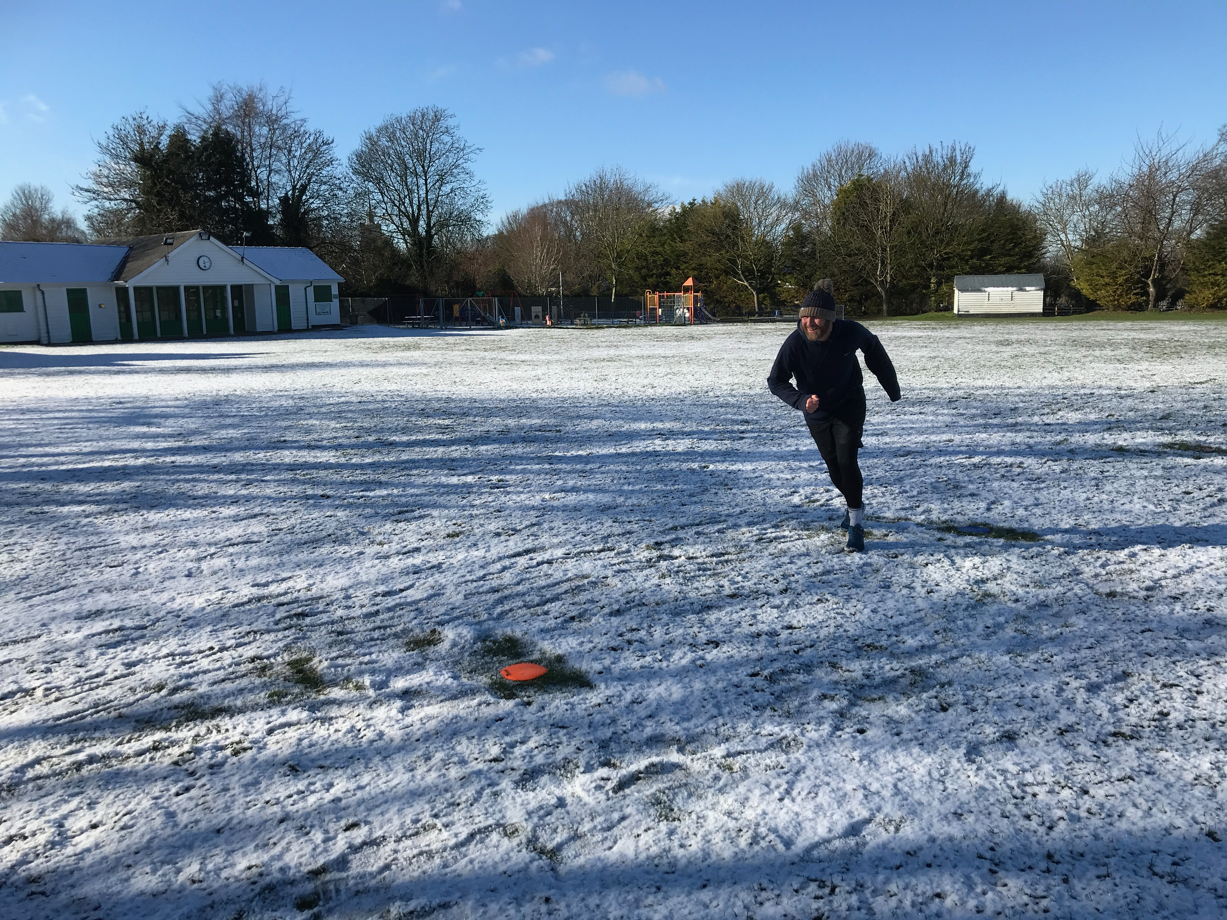 Shuttle Run on the snow