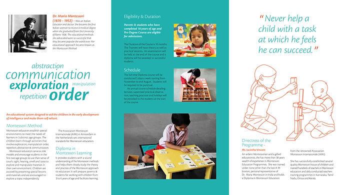 Montessori brochure education