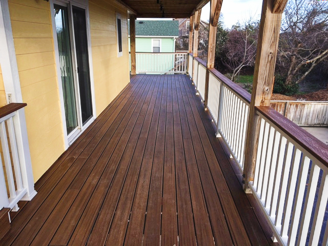 Trex Decking and Handrail Installati