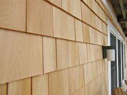 Cedar Shake Siding Install