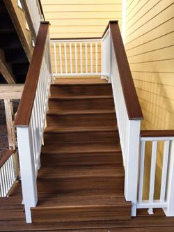 Trex Decking and Handrail Installati