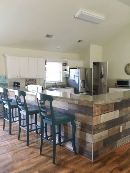 Kitchen Island Tile Wrap Installatio