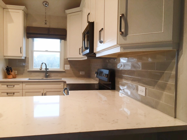 Backsplash tile Install