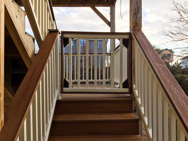Trex Decking and Handrail After
