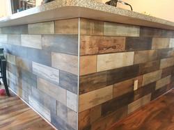 Kitchen Island Tile Wrap Installatio