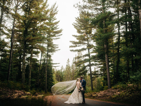 an intimate, rainy, northwoods wedding