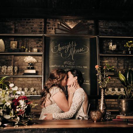 an intimate villa terrace wedding - milwaukee wisconsin
