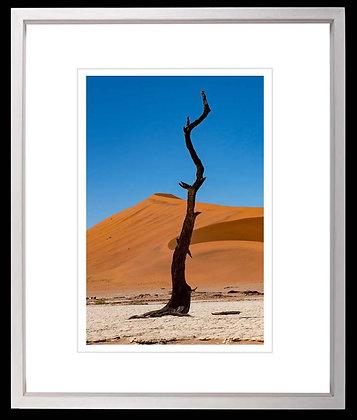 Namib Desert A4 inkjet print White Ash Frame