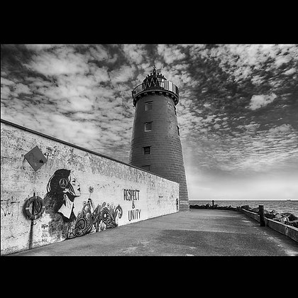 Lighthouse Great south Wall Dublin A4 Inkjet Print