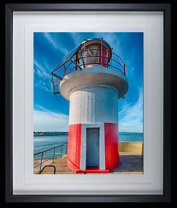 Wicklow Lighthouse A4 inkjet print Black Ash Frame