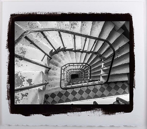 Spiral Stairs Paris A3 Platinum print