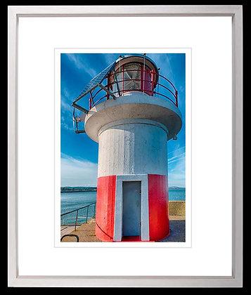 Wicklow Lighthouse A3 inkjet print White Ash Frame