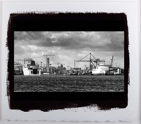 Dublin Docks A3 Platinum print