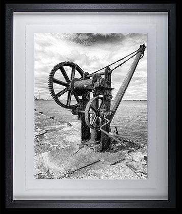 Winch A4 inkjet print Black Ash Frame