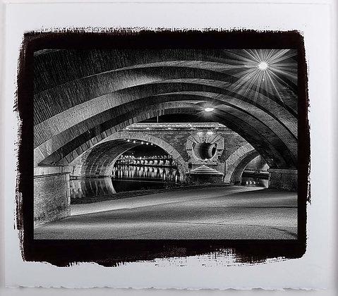 Pont Neuf Toulouse A4 Platinum print