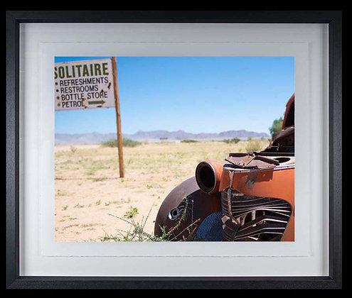 Solitaire Namibia A4 inkjet print Black Ash Frame