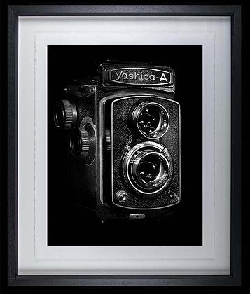 Yashica Camera A3 Platinum print Black Ash Frame