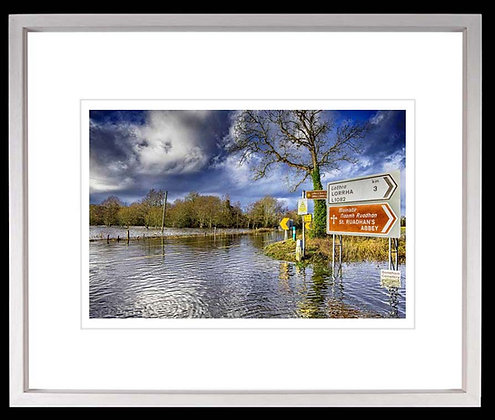 The Great Flood A3 inkjet print White Ash Frame
