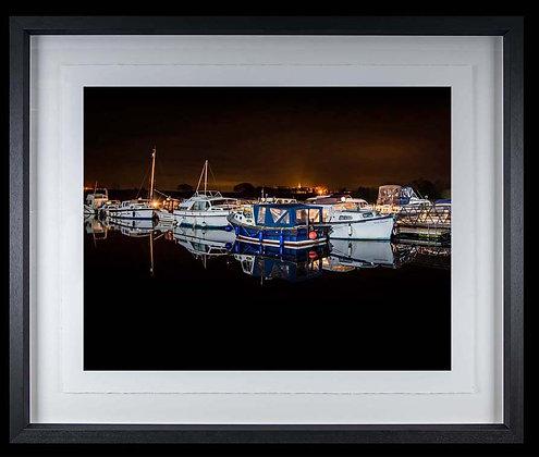 Terryglass Harbour A4 inkjet print Black Ash Frame
