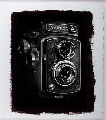 Yashica Camera A3 Platinum Print White Ash Frame
