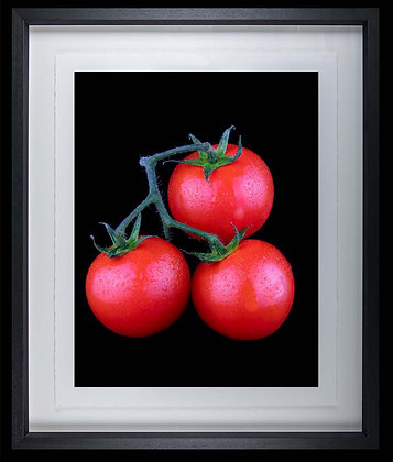 Tomatoes A3 inkjet print Black Ash Frame