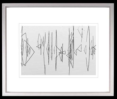 Reeds Lough Derg A3 Platinum print White Ash Frame