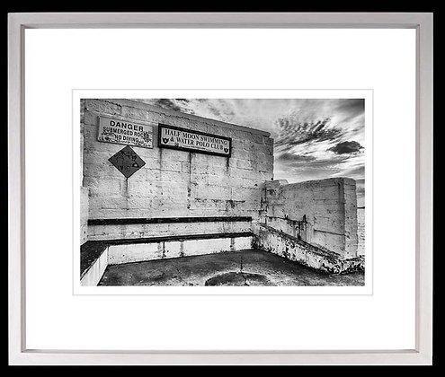 Half Moon Swimming Club Dublin A4 inkjet print White Ash Frame