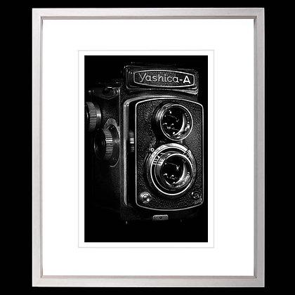 Yashica Camera A4 Inkjet print White Ash Frame