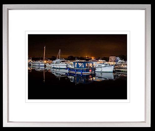 Terryglass Harbour A4 inkjet print White Ash Frame