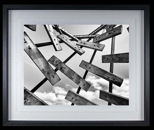 Sky Planks A4 inkjet print Black Ash Frame
