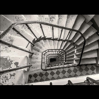 Spiral Stairs Paris A4 Inkjet Print