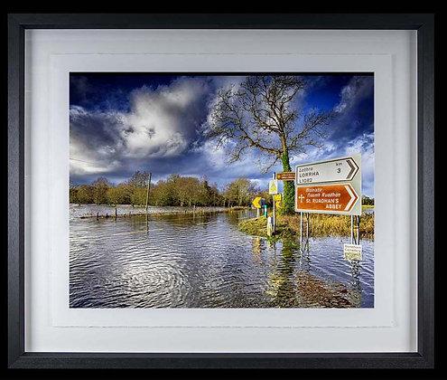 The Great Flood A3 inkjet print Black Ash Frame