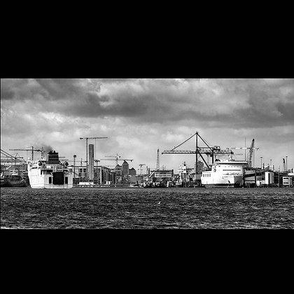 Dublin Docks A3 Inkjet Print