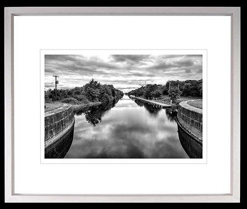 Victoria Lough Meelick A4 Platinum print White Ash Frame