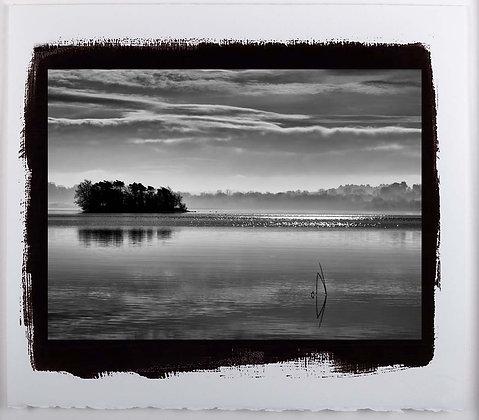 Silver Island Lough Derg A3 Platinum print