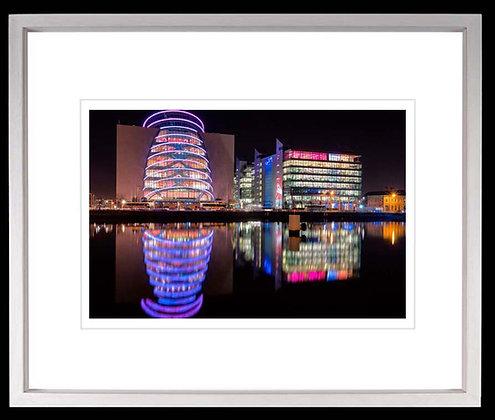 Conference Centre Dublin A3 inkjet print White Ash Frame