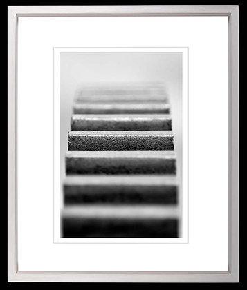Machine Detail A3 Platinum print White Ash Frame