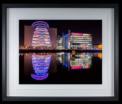 Conference Centre Dublin A3 inkjet print Black Ash Frame