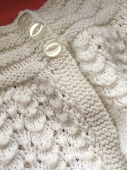 Handknitted Baby Girls Matinee Jacket
