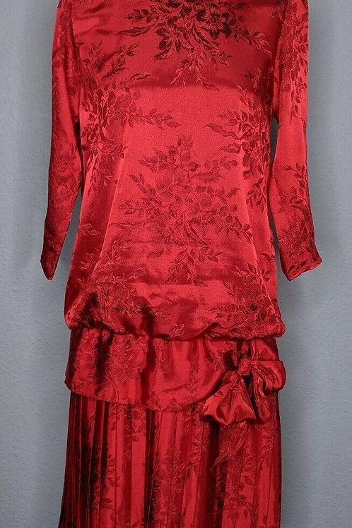 Damask Drop Waist Dress
