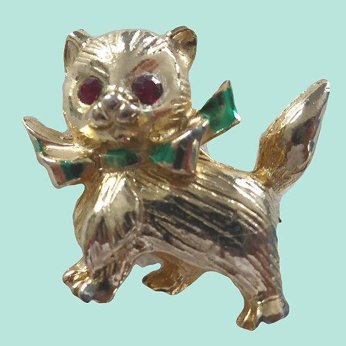 Vintage Kitsch Cat Brooch